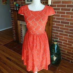 Fleet Collection! Beautiful orange lace dress.